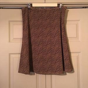 Liz Claiborne Brown Tan A-Line Skirt